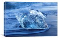 Melting Ice along the Atlantic Ocean Coast, Canvas Print