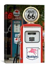 Petrol Station along Route 66, Canvas Print