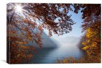 Lake Königssee in Autumn, Canvas Print