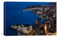 Monte Carlo at Night, Canvas Print