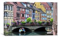 Petite Venise in Colmar,France, Canvas Print