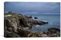 Côte Sauvage, Brittany, France, Canvas Print