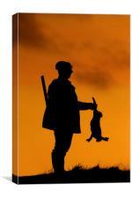 Hunter at Sunset, Canvas Print