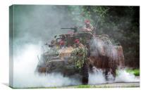Commandos under Attack, Canvas Print