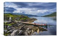 Glenachulish turntable ferry boat, Canvas Print