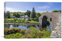 Clachan Bridge, Scotland, Canvas Print