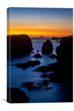 Eshaness at Sunset, Shetland, Canvas Print