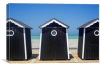 Beach Cabins in Normandy, Canvas Print