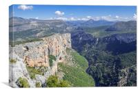 Gorges du Verdon, Provence, Canvas Print