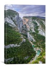 Point Sublime in the Gorges du Verdon, Provence, Canvas Print