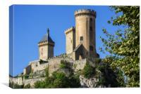12th century Château de Foix in Ariège, France , Canvas Print