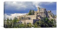 Sisteron Citadel, Canvas Print