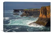 Wild Sea at Eshaness, Shetland, Canvas Print