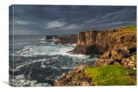 Sea Cliffs at Eshaness, Shetland, Canvas Print