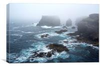 Stormy Sea at Eshaness, Shetland Isles, Scotland, Canvas Print