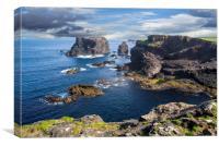 Sea Stacks and Cliffs at Eshaness, Shetland, Scotl, Canvas Print