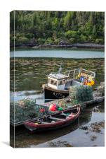 Fishing Boat in Plockton, Scotland, Canvas Print
