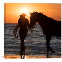 Horsewoman, Canvas Print