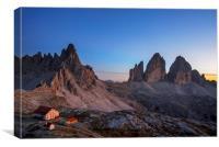 Tre Cime Di Lavaredo In The Dolomites, Canvas Print