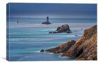 Lighthouse La Vieille, Brittany, Canvas Print