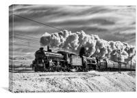 Steam train Winter Cumbrian Mountain Express Tebay, Canvas Print