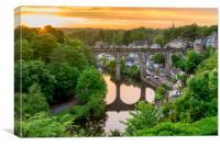 Knaresborough Viaduct sunset, Canvas Print