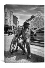 Knaresborough statue, Canvas Print
