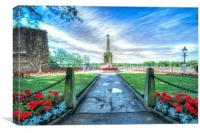 Knaresborough war memorial, Canvas Print