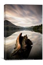 Ullswater Stump Long Exposure, Canvas Print