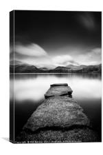 Isthmus Bay Black and White, Canvas Print