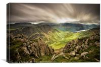 Above Honister Pass, Canvas Print
