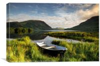 Crummock Water Boat, Canvas Print