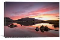 Sunrise behind Blencathra, Canvas Print
