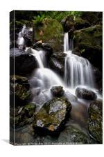 Ladore Falls Wet Rocks, Canvas Print