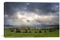 Stormy Castlerigg Stone Circle, Canvas Print