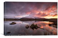 Snow capped Blencathra sunrise, Canvas Print