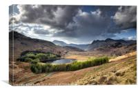 Blea Tarn and Langdale Pikes, Canvas Print