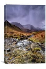 Gatesgarthdale Beck Storm Approaching, Canvas Print