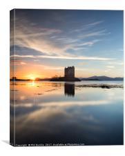 Castle Stalker Sunset, Canvas Print