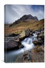 Greenhow End Waterfalls, Canvas Print