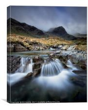 Deepdale Beck and Greenhow End, Canvas Print
