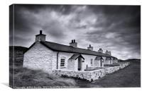 Pilots Cottages Llanddwyn Island, Canvas Print