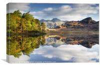 The Langdale Pikes Reflecting, Canvas Print
