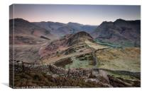 Lingmoor Fell to the Pikes, Canvas Print