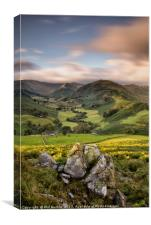 Rocks above Martindale Valley, Canvas Print
