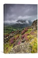 Low Cloud Langdale Pikes, Canvas Print