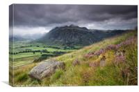 Langdale Pikes and Mickleden Valley, Canvas Print