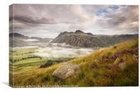 Mist in Langdale Valley, Canvas Print