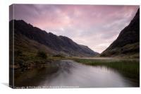 Sunrise at Loch Achtriochtan, Canvas Print