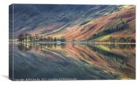 Char Hut Reflections Buttermere, Canvas Print